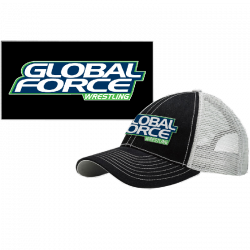 Global Force Wrestling Black and Grey Ballcap