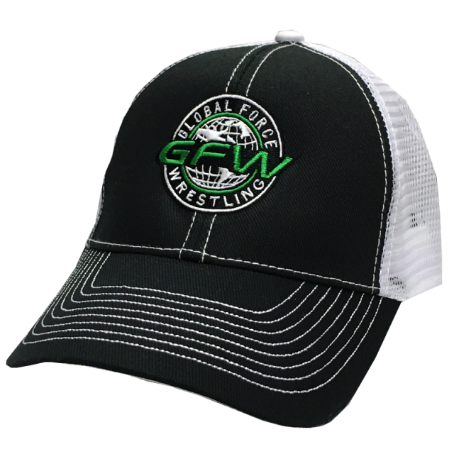 Global Force Wrestling Black and White Ballcap