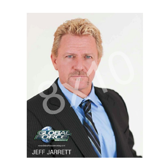 Global Force Wrestling Autographed 8x10- Jeff in Suit