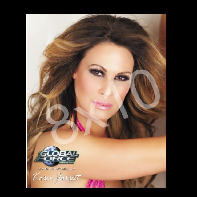 Global Force Wrestling Autographed 8x10-  Karen Headshot