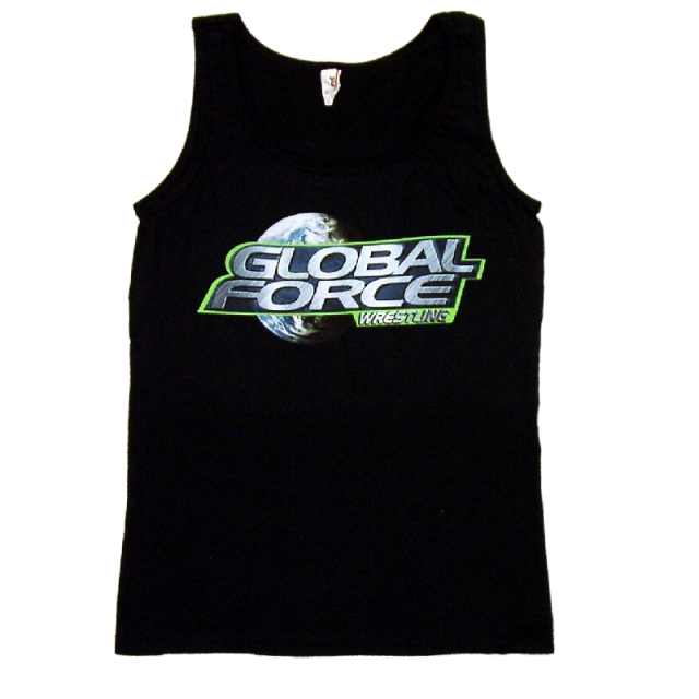 Global Force Wrestling Ladies Black Tank Top