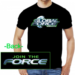 Global Force Wrestling Black Logo Tee