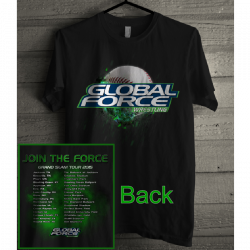 Global Force Wrestling Black Grand Slam Tee