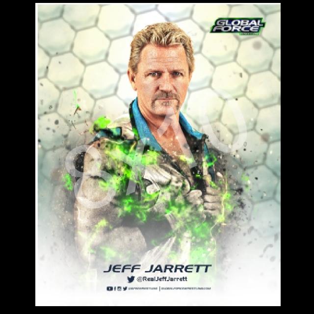 Global Force Wrestling Autographed 8x10- Jeff Wrestling