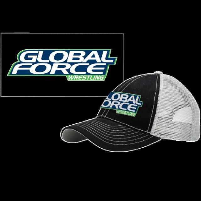 Global Force Wrestling Black and Grey Ballcap