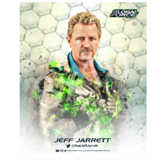 Global Force Wrestling Autographed 8x10- Jeff Wrestling